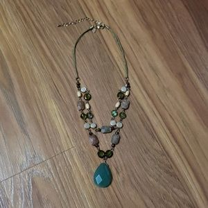 Jewelry - Green and Gold Geode Necklace